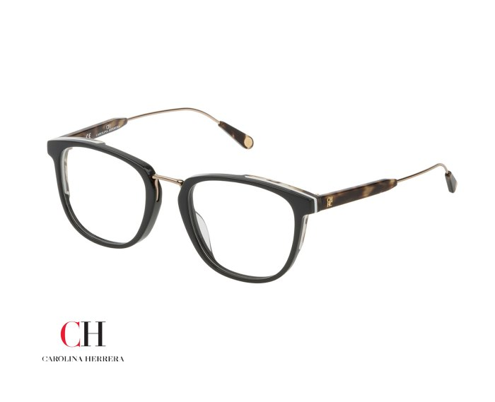 Carolina Herrera VHE812 in Shiny Dark Grey