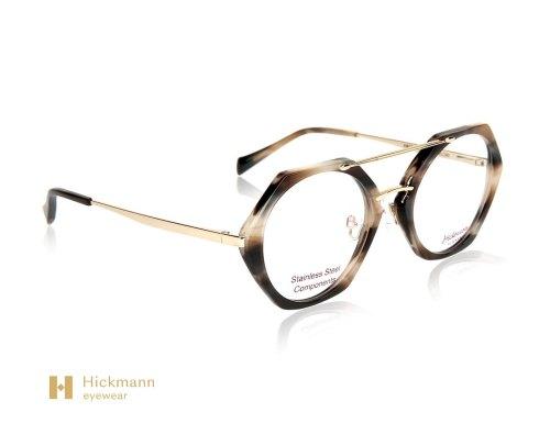 Hickmann Eyewear HI6136 in Black and Milk White Stripe