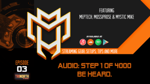promotional banner for m3 tech talk, episode 3. Audio!