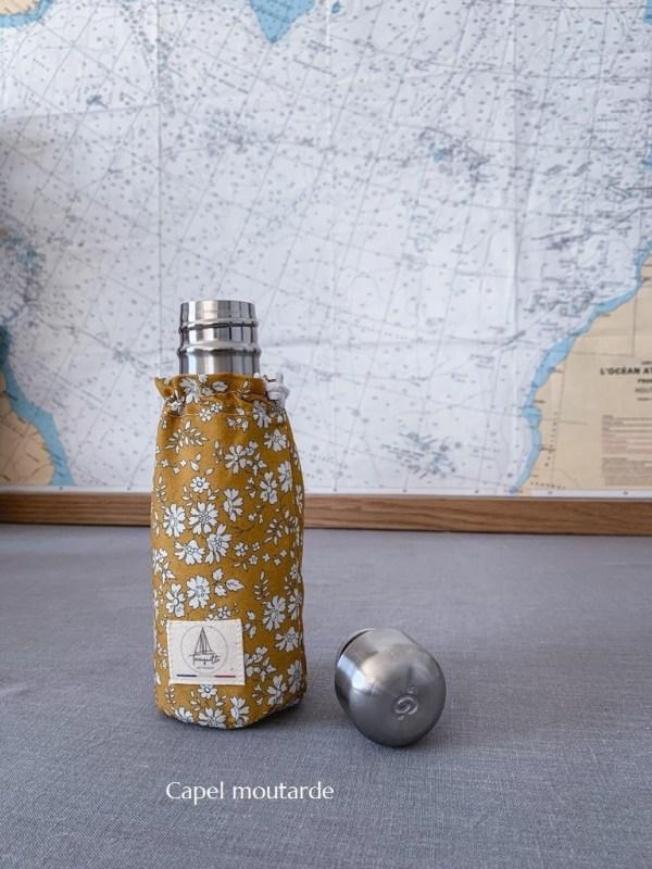 Bouteille isotherme 260 ml Qwetch & pochette de transport - Liberty Trinquette Artisanat