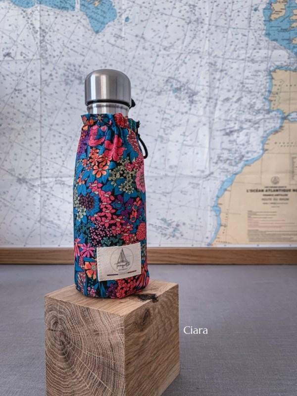 Bouteille isotherme Qwetch & pochette de transport - Liberty Ciara