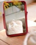 Trousse de toilette ronde en coton bio - coloris beige - Trinquette Artisanat