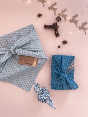 "Furoshiki ""Rio"" emballage écologique en tissu réutilisable"
