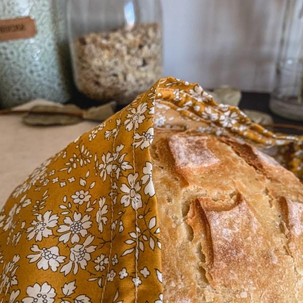 Sac à pain - Moutarde - Trinquette Artisanat - Coton Liberty