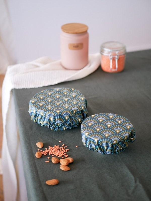 Charlottes à plat - Eventail bleu - Trinquette Artisanat