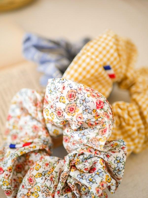 Chouchou coloris Petites Fleurs - Trinquette Artisanat