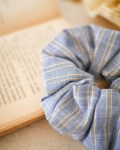 Chouchou coloris Bleu Lurex Doré - Trinquette Artisanat