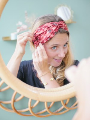 Bandeau cheveux - Trinquette Artisanat - Coloris Coquelicot