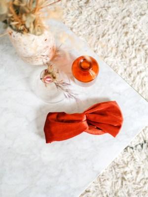 Bandeau cheveux - Trinquette Artisanat - Velours Cuivré
