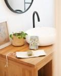 Pochette à savon en coton enduit, coloris Ciel - Trinquette Artisanat