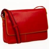 Flapover office shoulder bag