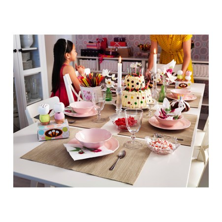 Ikea platos rosa