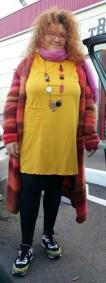 vestido mostaza talla grande