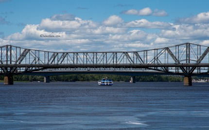 Alexandra Bridge is visible from many different location in down town Ottawa. My favourite is the view from the walk way along the river...