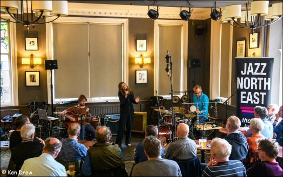 Under The Surface for Jazz North East at The Bridge Hotel, Newcastle 23rd June 2019 with Bram Stadhouders; Joost Lijbaart; Sanne Rambags © Ken Drew