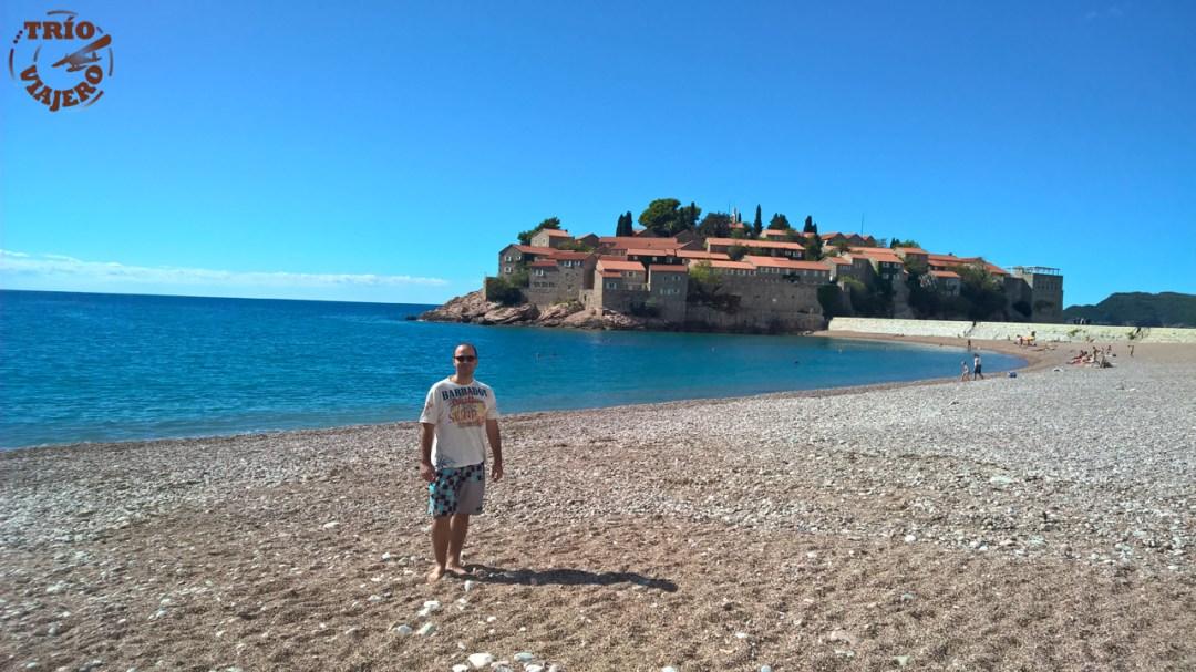 Playa de Sveti Stefan (Montenegro)