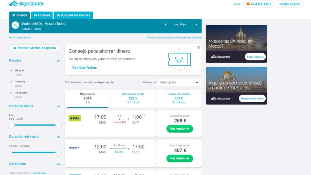 Skyscanner - Metabuscador de vuelos, hoteles y alquiler de coches ⋆ Trio Viajero