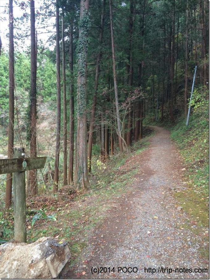 吾野駅近くの山道