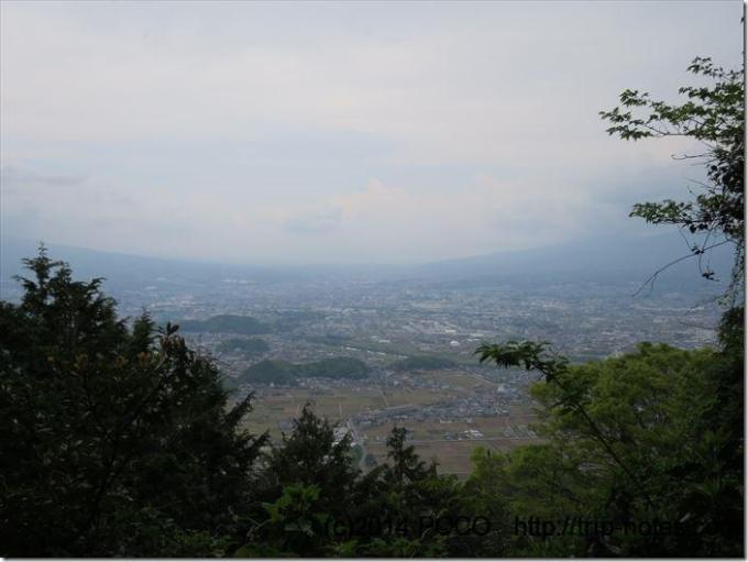 大平山途中の眺望