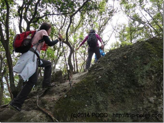 沼津アルプス岩の道