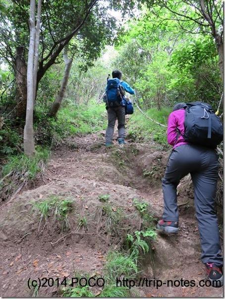 志下坂峠からの登り