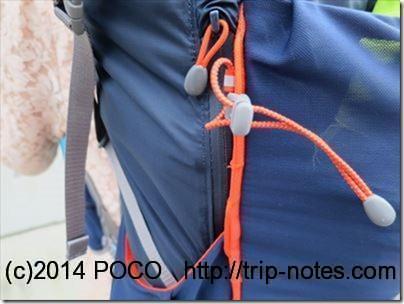 Fastpack 30の防水ジッパーポケット