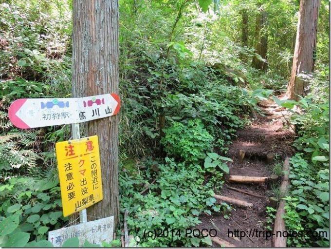 高川山登山口