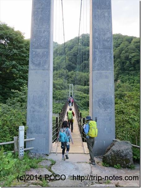 砂防新道の吊り橋