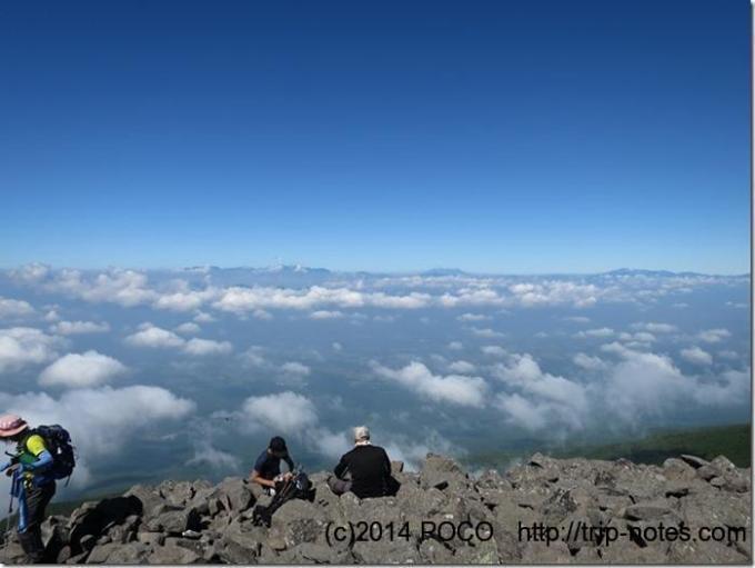 編笠山からの雲海