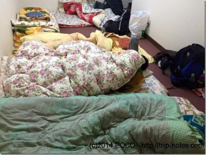 八ヶ岳山荘仮眠室