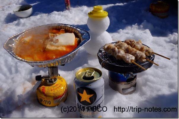竜ヶ岳山頂山ご飯会_チゲ