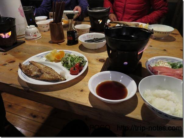 赤岳鉱泉の夕食
