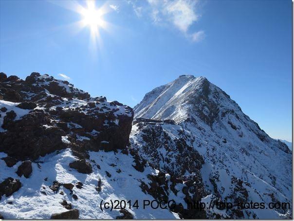 地蔵尾根から見る阿弥陀岳