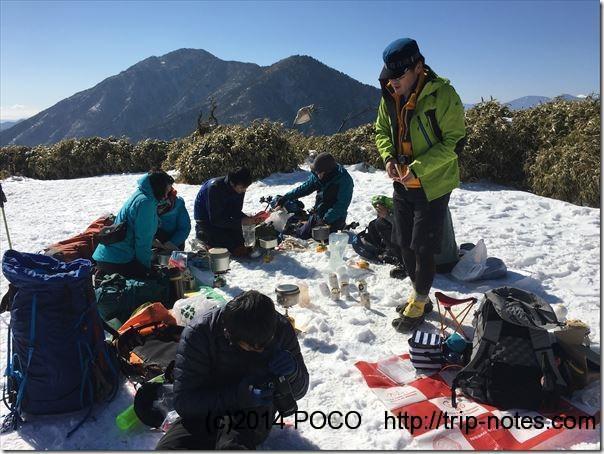 竜ヶ岳山頂山ご飯会