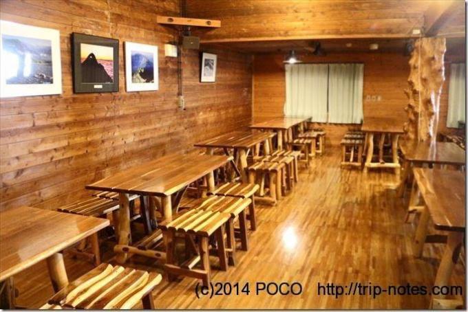 西穂山荘_本館の食堂