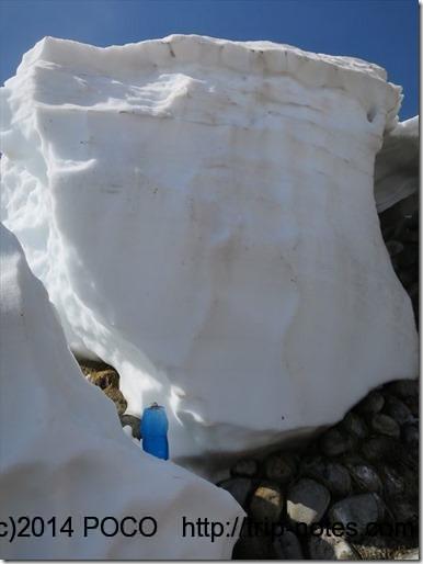 白馬の雪解け水