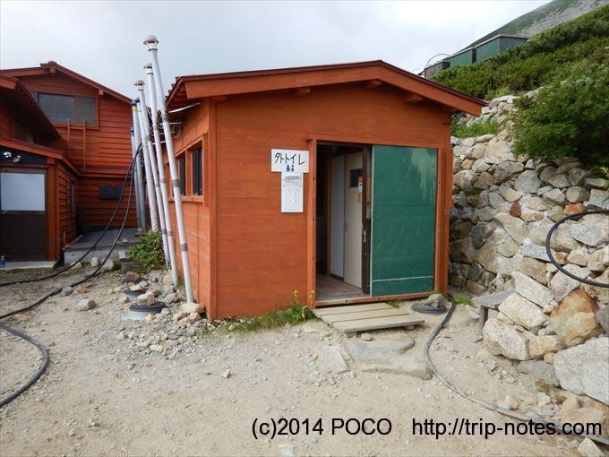 双六小屋の外トイレ