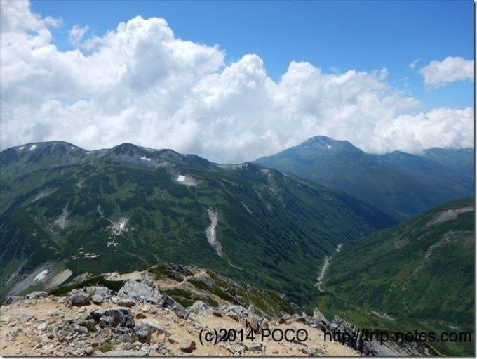 鷲羽岳からの眺望