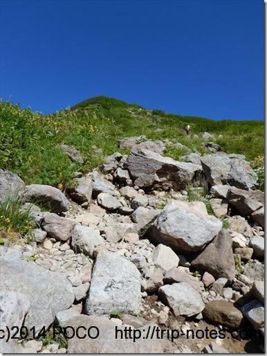 三俣山荘から雲ノ平