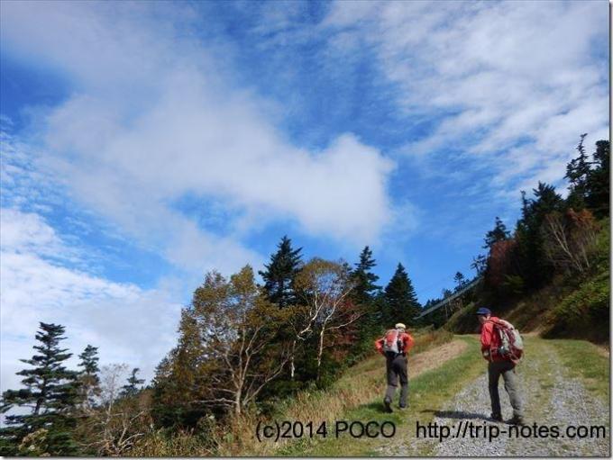 横手山登山道