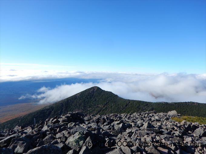 編笠山から西岳