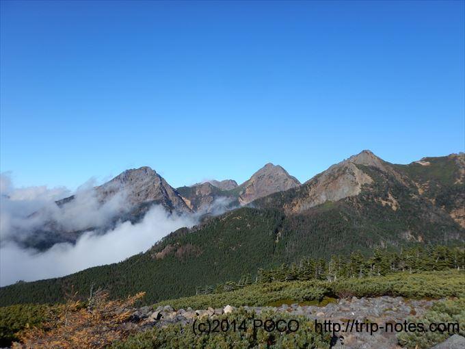 編笠山から南八ヶ岳