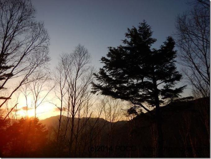 雁坂小屋の朝
