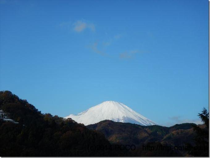 谷峨駅付近からの富士山