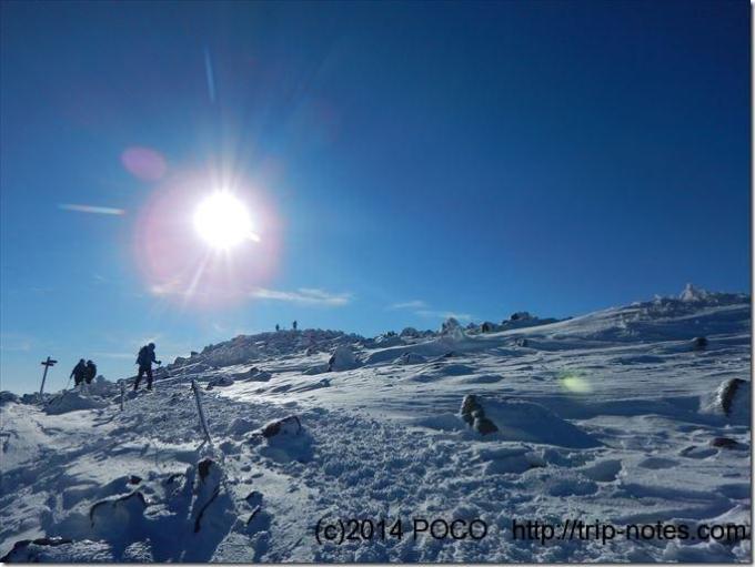 蓼科山頂 雪山登山