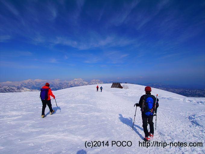 八方尾根唐松岳雪山登山