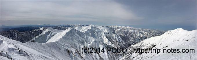 谷川岳雪山登山 主脈