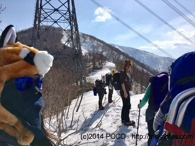 松手山コース送電鉄塔