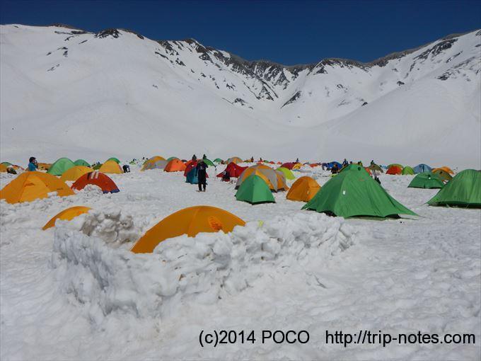 雷鳥沢キャンプ場(残雪期)