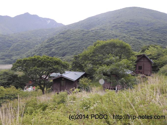 法華院温泉山荘のバンガロー